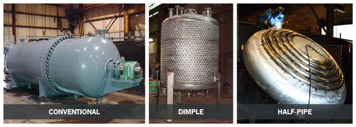 Pressure Vessel Jacket Types