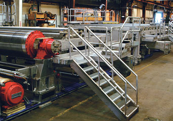 fourdrinier machine section
